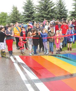First rainbow crosswalk officially opens in Clarington