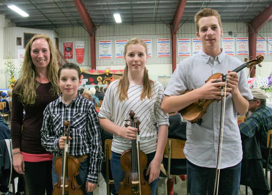 The musical Mitchell family from Omemee, fiddle contest prizewinners