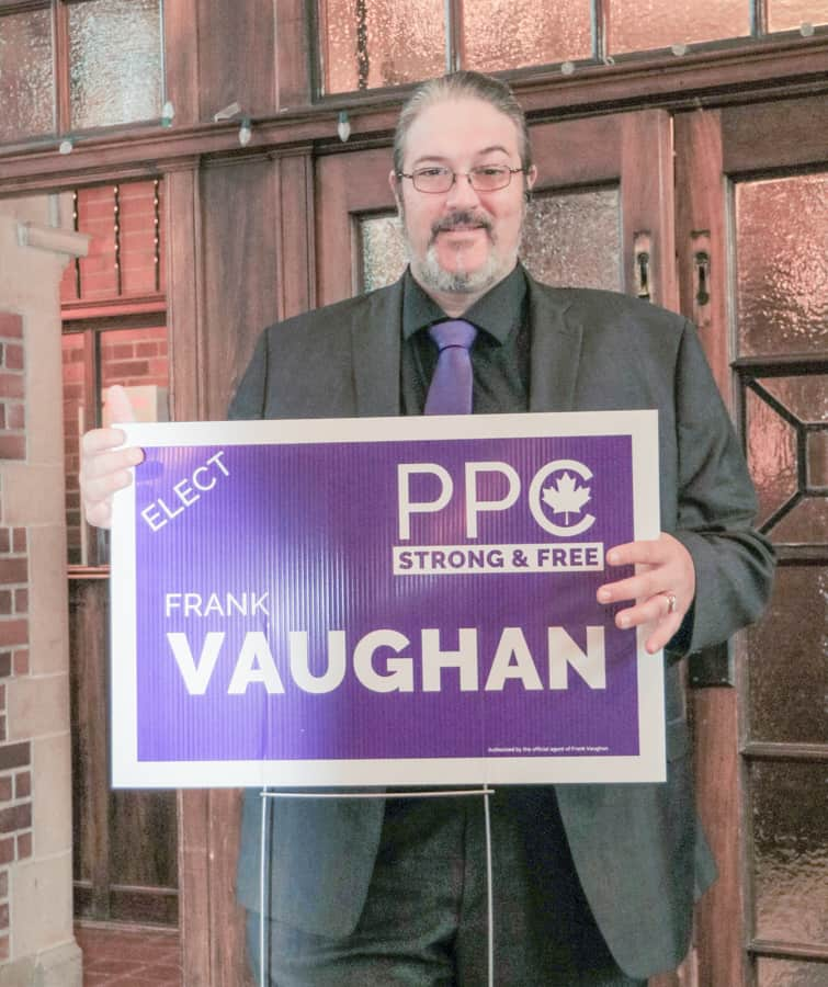 ON THE ELECTION TRAIL – Frank Vaughan, Peoples Party of Canada