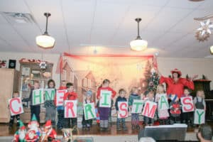 Christmas arrives at Newtonville Town Hall