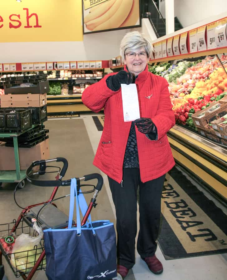 Ewa Adamson from Wilmot Creek is shopping for a neighbour