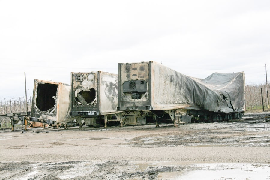 Algoma burnt out trailers