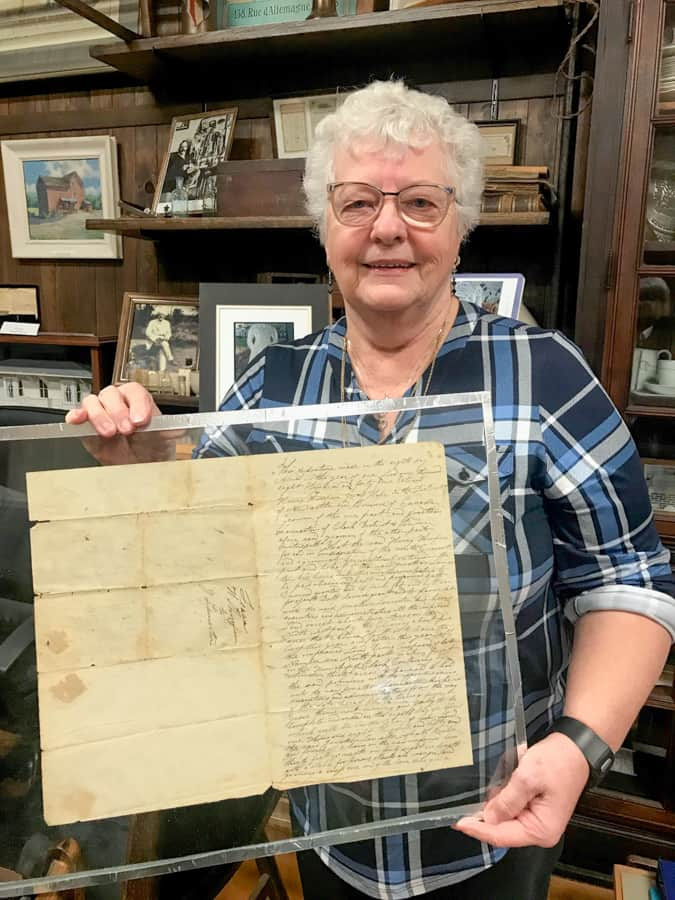 Dorella Lancaster-Forget shares a certificate of indenture from 1845 belonging to her great great grandfather