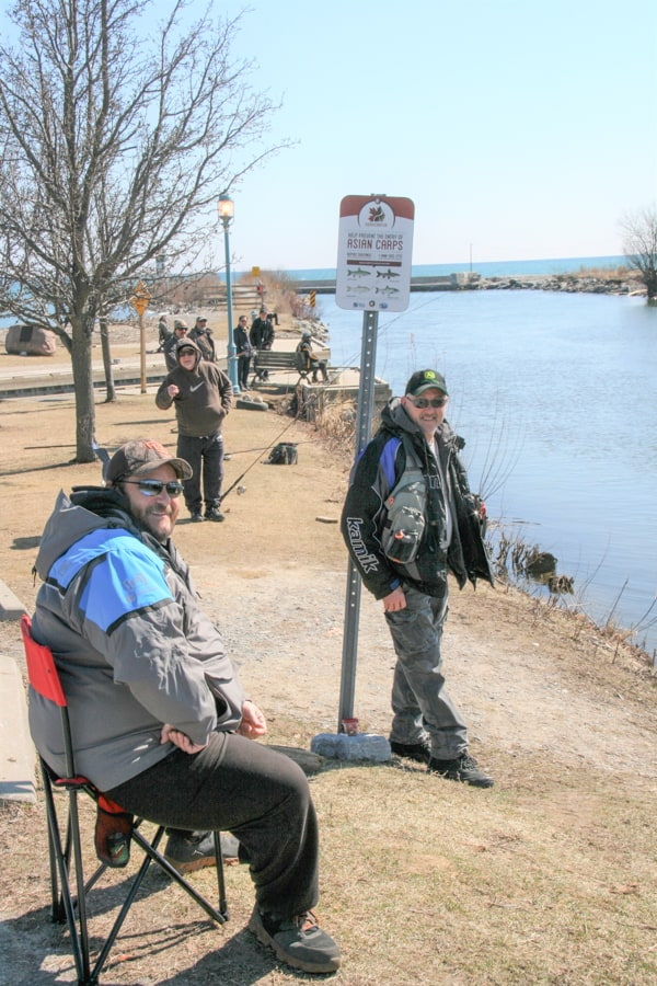 Social distancing with fishing rods