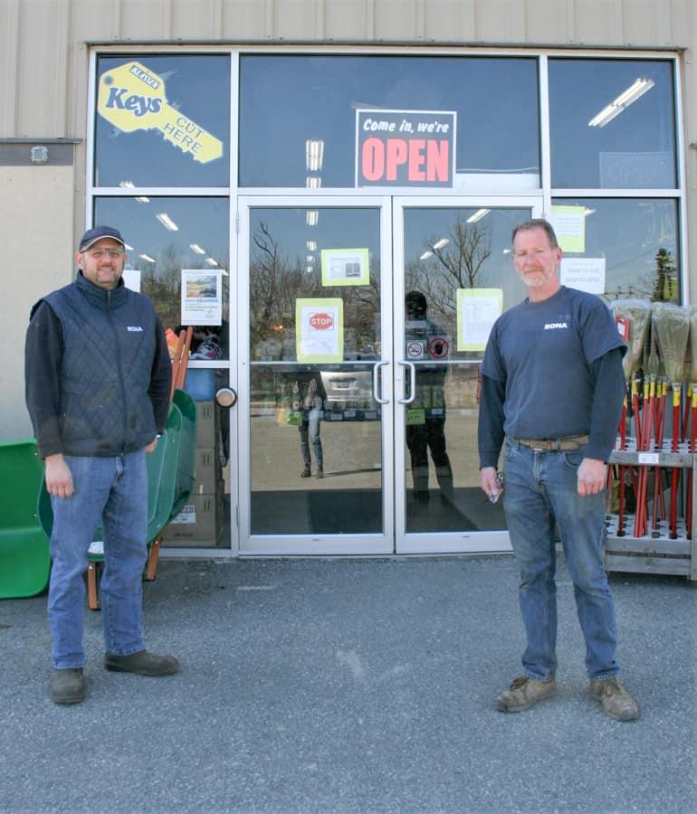 John Albi, owner of Rona, and Jason Firing_