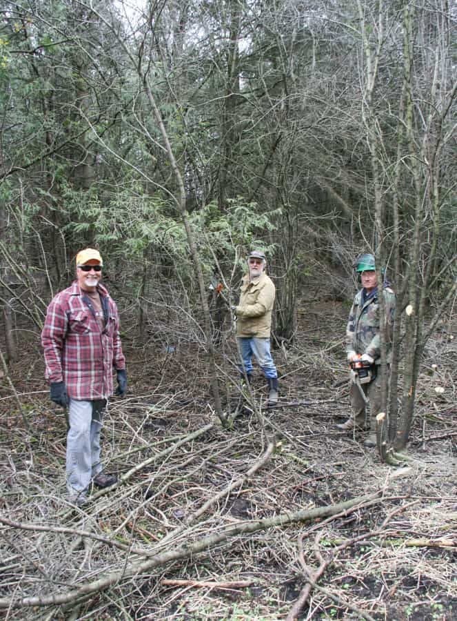 Volunteers with Orono Crown Lands contribute to the public's wellbeing