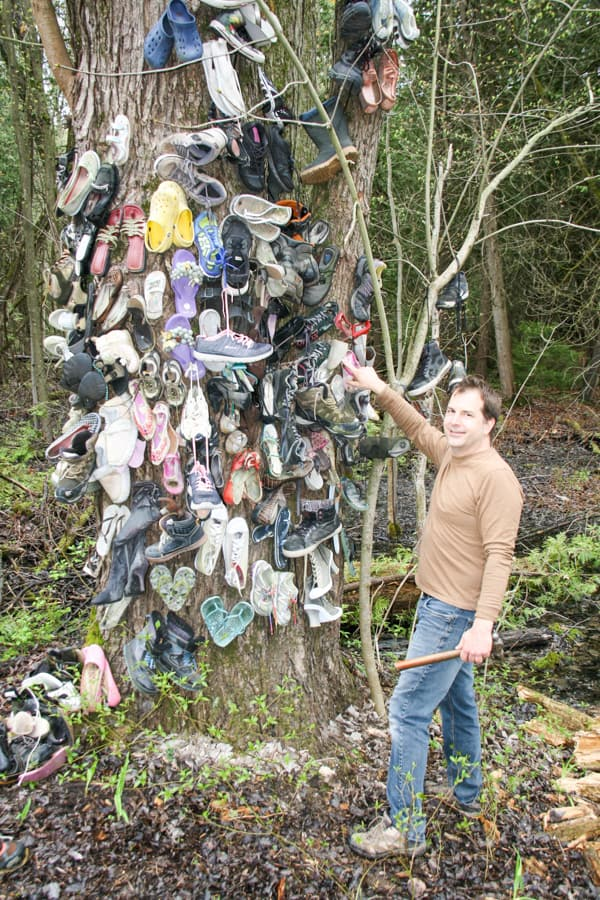 Bubba's Shoe Tree: Honouring a fun, zany woman