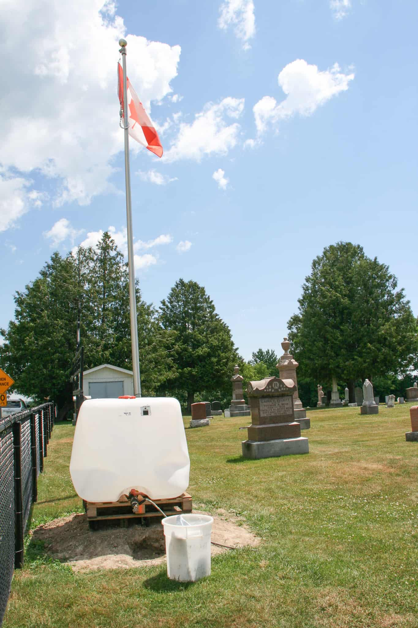 Water access needed for historical cemetery