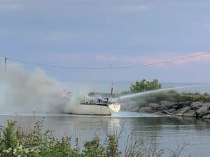Sunday evening fire at Newcastle marina