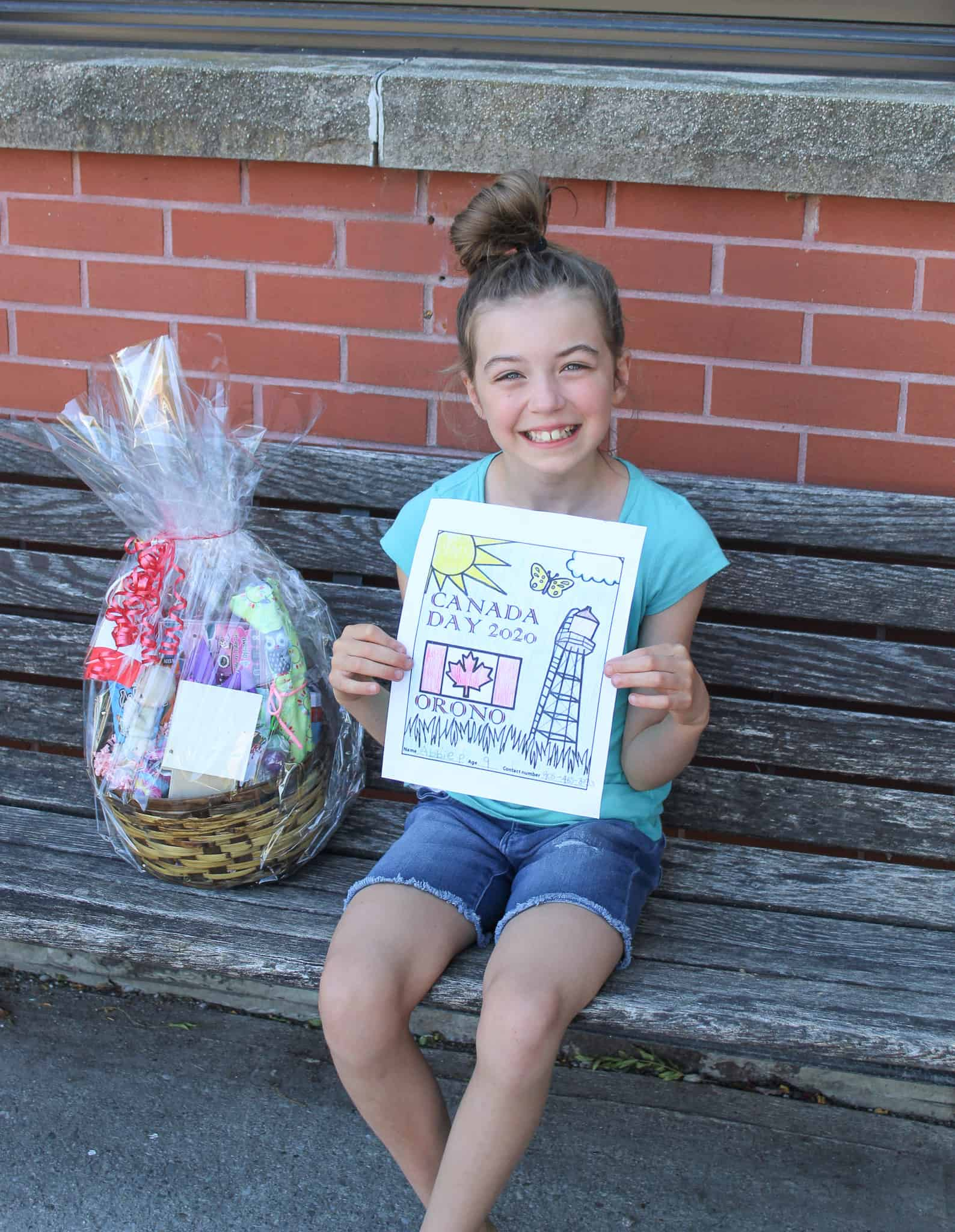 Winners Canada Day colouring contest