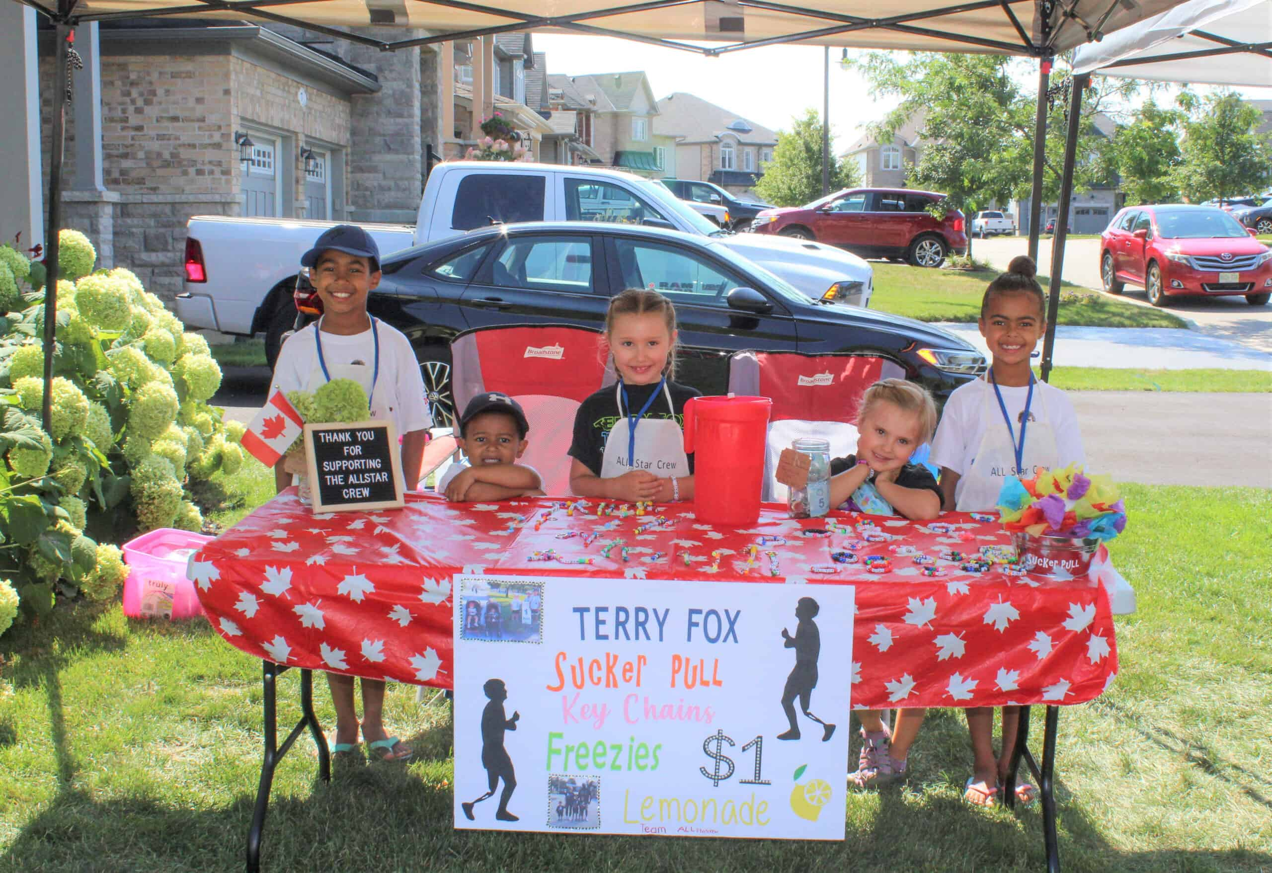 Raising money for Terry Fox