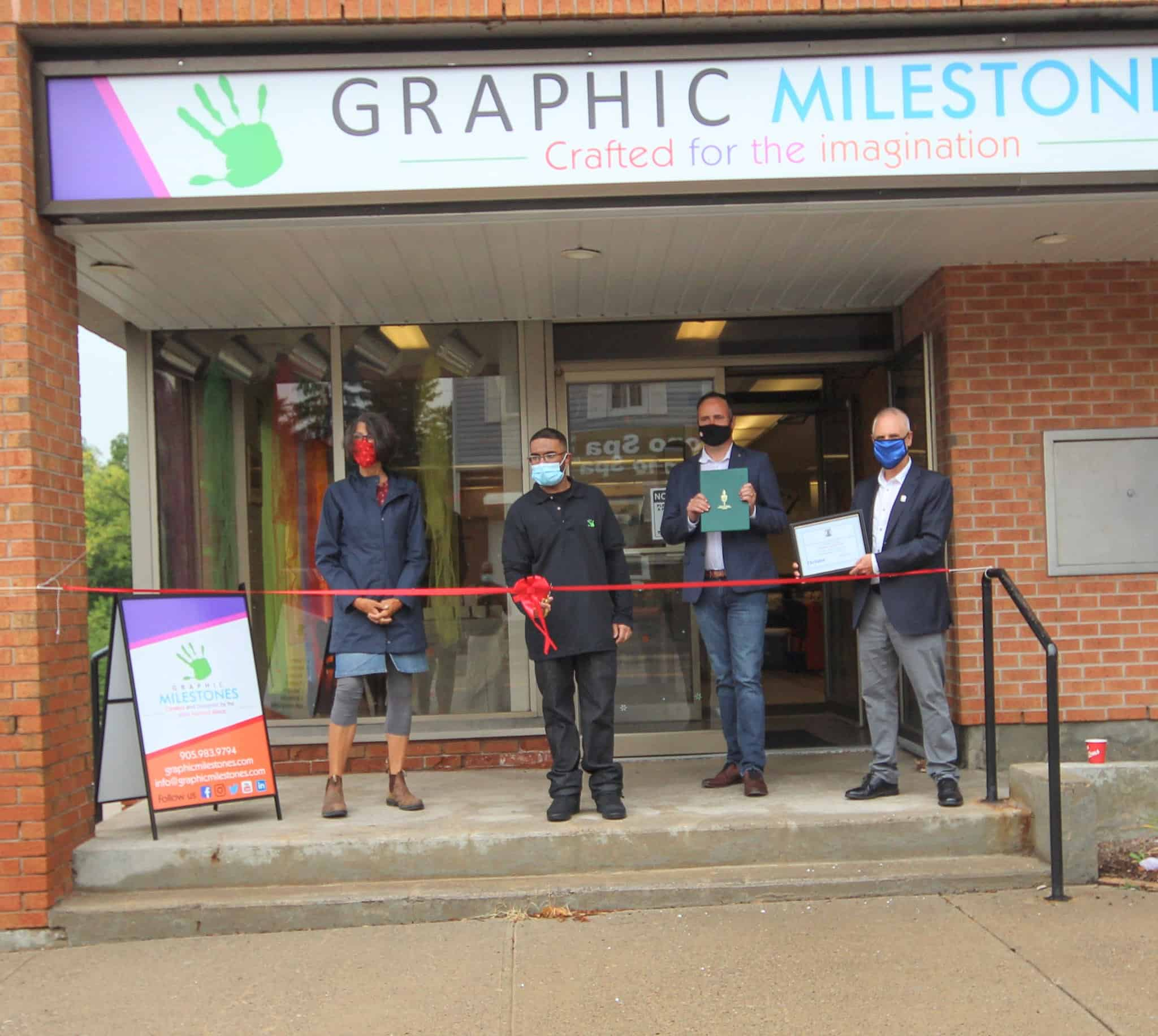 Graphic Milestones is ready for visitors