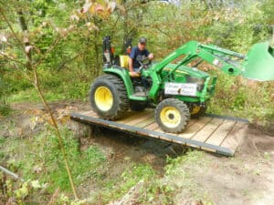 New bridge for Orange Trail