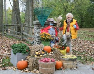 The latest in fall scarecrow fashion: Mask up