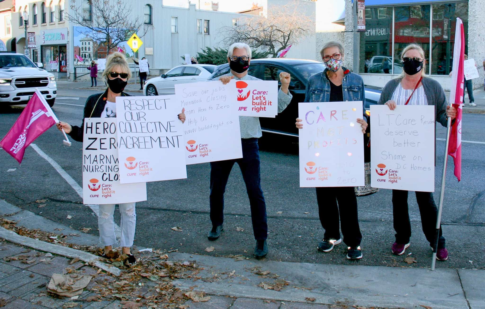 LTC workers from Glen Hill Marnwood take to the streets – again