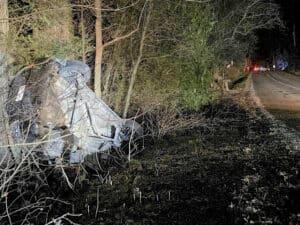 Fatal single motor vehicle collision on Lakeshore Road Friday night