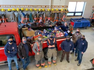 Firefighters successful food drive