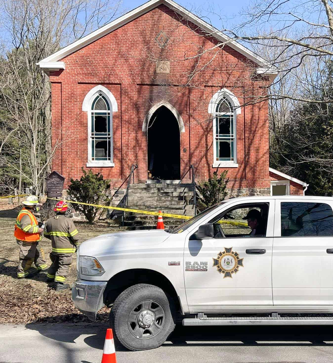 Historic church damaged in fire