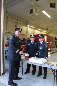 Read more about the article Volunteer fire captain honoured for 35 years of service